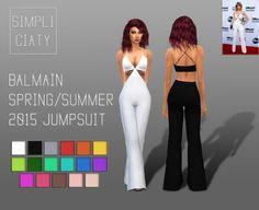 Simpliciaty: Balmain Spring/Summer 2015 Jumpsuit • Sims 4 Downloads