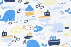 jilly p in m- nautical, pattern, fish, boats, ocean, whale, anchor