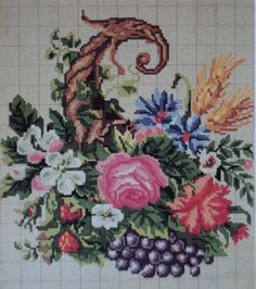 A Lovely Berlin WoolWork Cornucopia Pattern