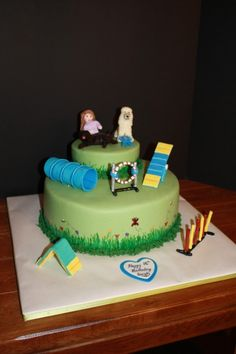 Dog Agility Themed Sweet 16 Cake By Mindy400 on CakeCentral.com