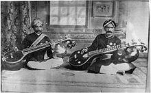 Kingdom of Mysore -Legendary Vainikas – Veene Subbanna and Veene Sheshanna (photographed in 1902)