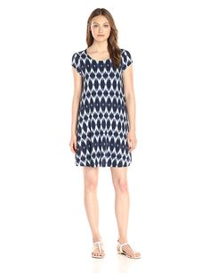 Karen Kane Women's Blurred Ikat Maggie Trapeze Dress * Click image to review more details.