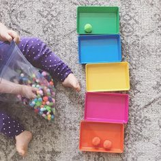 Color sorting or she may just dump the whole bag! either way I�m prepping the house for guests! Working with color tablets and trays helped Autumn learn colors overnight! Now she�s interested in sorting. Do you want to help your toddler learn co