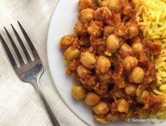 Sunday Slow Cooker: Chana Masala | Slender Kitchen - 5p+ / 3/4 c