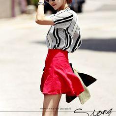 Ssongbyssong Womens Flower Mood Flare Skirt High End Fashion Brand #ssongbyssong #FullSkirt