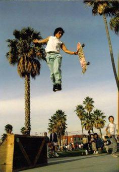 Hosoi, doing his own trick: Christ Air