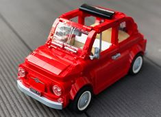 Fiat 500 | Built by Gabriele Zannotti via Flickr . https://flic.kr/p/25bBhoR . Currently on Lego Ideas. Needs 2500 more to hit 10k. What…