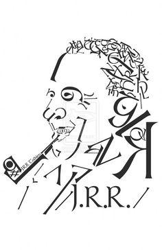 Typographic Portraits - Beautiful Text Art