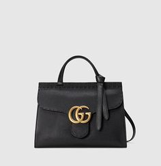 Gucci - GG marmont leather top handle 421890A7M0T1000