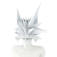 Masko origami masks for shop window mannequins, spikes // by 3Gatti Architecture Studio