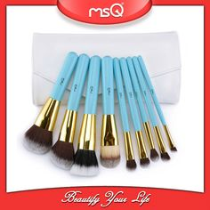 MSQ new arrivals tiffany 9pcs makeup brushes manufacturers china