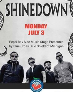 Traverse City MI! A chance to win tickets to see #Shinedown! (via Rock 105) If YOU want to WIN Shinedown tickets for Cherry Festival...READ!!!! Go the website www.rock105.fm and go to the contest section and fill out an entry form. http://rock105.fm/contests/shinedown-tickets If you fill out the form completely you're entered! There WILL be multiple winners getting tickets to the show...with one GRAND PRIZE winner announced AT THE SHOW...front row executive seats! And oh yeah...you can text…