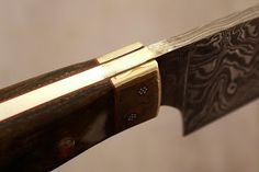 SUPERIOR CUSTOM MADE DAMASCUS STEEL CHEF KNIFE WITH MOKUME GANE BOOSTER