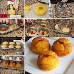 DIY Pineapple Upside-Down Cupcakes