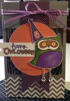CTMH August stamp of the month- CUTE!!!  Stamp of the Month: What a Hoot and ShinHan Markers - The Brae-er