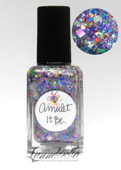 Lynnderella Limited Edition — Amulet it Be. contains multiglitter in a translucent super-shimmer base.
