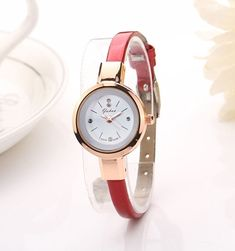 Fashion gold watch quartz clock girl slim band dress watches hours Reloj  Mujer 33462e8fec7