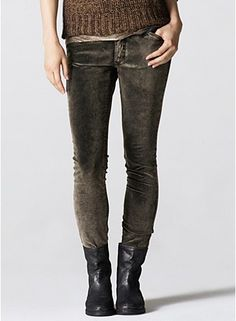 Plus Size Skinny Jean in Mineral Washed Stretch Velveteen