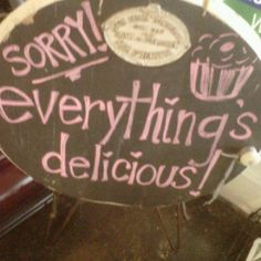 Cute sign in a bakery