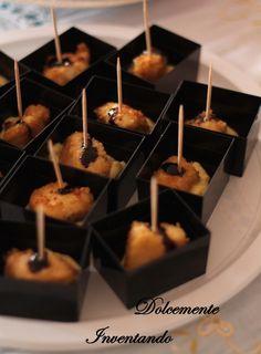 Dolcemente Inventando : Bocconcini di pollo fritto con salsa tartara e glassa di balsamico...idee per buffet!