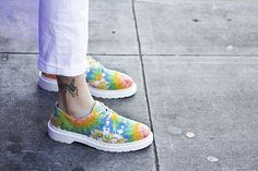 The Tie Dye Lester shoe.