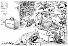 """Zapiro - The Meaning of """"Free """" ? published in Sunday Times on 1 Feb 2015 Cartoons, Sunday, Times, Prints, Free, Cartoon, Domingo, Cartoon Movies, Comics And Cartoons"""