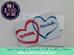 Update Your Wardrobe With Something Fabulous This Spring - Win a $ 100 T.J. Maxx / Marshalls Gift Card