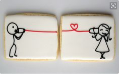 Galleta decorada con royal icing para San Valentín