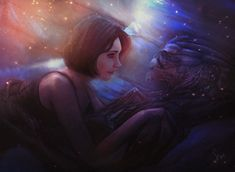 Lost Without You by Mary Smile (SmaiLika07). This is such a beautiful moment she created between Shepard and Garrus, two souls brought together by unlikely conditions. #MassEffect #Ishipit