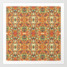 Aztec Quilt Art Print by Zeke Tucker - $17.68