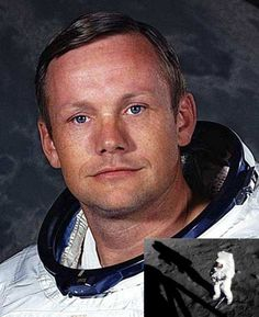Neil Armstrong, Astronaut. Born August 5, 1930 -died August 25, 2012. Born in Wapakoneta Ohio. First man to walk on the moon  Apollo 11 July 20, 1969. Buried at sea.