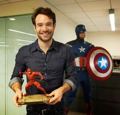 Charlie Cox / Daredevil is the cutest puppy.