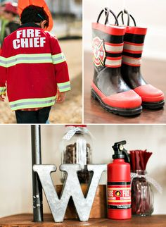 Industrial & Modern Fire Truck + Puppy Birthday Party