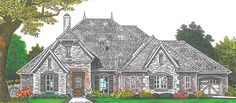 Chateau House Plan with 2370 Square Feet and 3 Bedrooms from Dream Home Source | House Plan Code DHSW076879