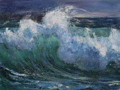 Greek Paintings, Waves Photography, Local Color, Greek Art, 10 Picture, Color Of Life, Ocean Waves, Art Museum, Greece