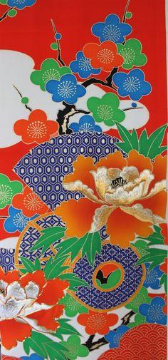 Japanese Vintage Silk Kimono Fabric / by Orientalvintage88 on Etsy, £23.89