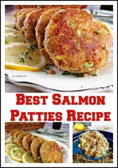 How to Make the Best Salmon Patties. Canned salmon seasoned and made into patties and fried in butter Canned Salmon Recipes, Fish Recipes, Seafood Recipes, Dinner Recipes, Healthy Recipes, Leftover Salmon Recipes, Yummy Recipes, Cake Recipes, Healthy Food