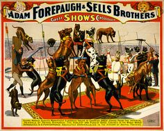 Champion great danes from the Imperial kennels, poster for Forepaugh & Sells Brothers, ca. 1898 by trialsanderrors, via Flickr