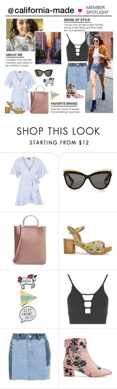 """""""Member Spotlight: California-made"""" by polyvore ❤ liked on Polyvore featuring Topshop and MemberSpotlight"""