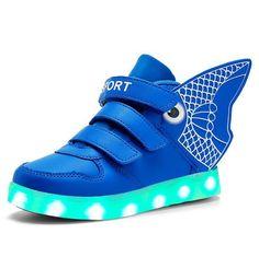 Goldfisch Schuhe Mit LED Kinder Blau