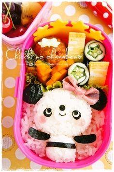 panda girl bento