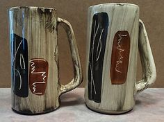 Laurentian-Art-Ware-Hand-Crafted-Pottery-Set-of-2-Mug-Beer-Stein-Quebec-Canada Beer Stein, Pottery Ideas, Quebec, Canada, Mugs, Tableware, Stuff To Buy, Art, Pottery