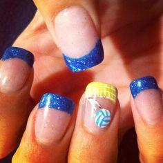 Volleyball Nails - #nailsbyamyb #volleyball Instagram and twitter @nailsbyamyb