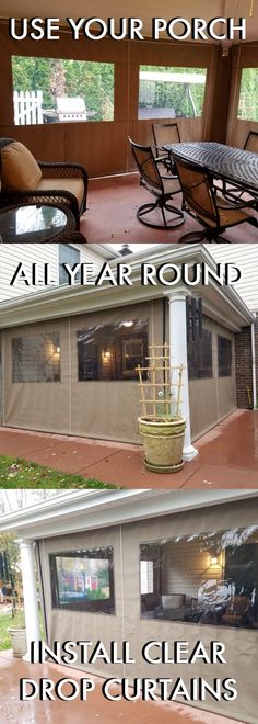 Porch Enclosure Curtains. DIY U2013 WE CAN SHIP The Curtains To You With All  Needed Hardware For An Easy Self Install! #VerticalBlindsWindow