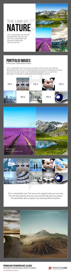 Quickly make a portfolio from your images using these slides – find the whole download package on our online shop at http://www.presentationload.com/image-layouts.html