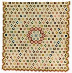 """Hexagon Mosaic"" made by Anna Ruggles, Dated 1796, probably made in England UK"
