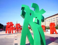 chinese calligraphy sculptures - Google Search