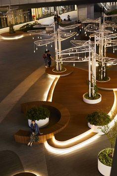 Landscape Plaza, Landscape And Urbanism, Landscape Elements, Landscape Architecture Design, Urban Architecture, Concept Architecture, Landscape Lighting, Urban Landscape, Landscape Structure