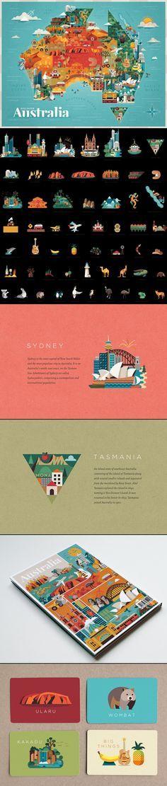 Discover Australia - http://www.behance.net/gallery/Discover-Australia/10686829 - Map