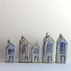 ceramic houses.
